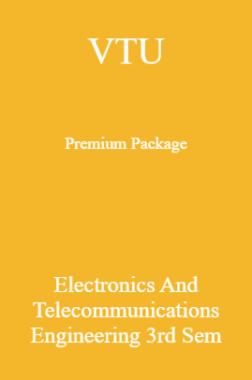 VTU Premium Package Electronics And Telecommunications Engineering III Sem