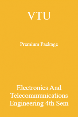 VTU Premium Package Electronics And Telecommunications Engineering IV Sem