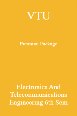 VTU Premium Package Electronics And Telecommunications Engineering VI Sem