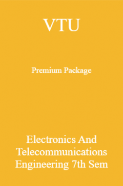 VTU Premium Package Electronics And Telecommunications Engineering VII Sem