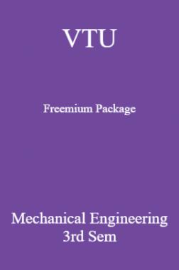 VTU Freemium Package Mechanical Engineering III SEM
