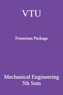 VTU Freemium Package Mechanical Engineering V SEM