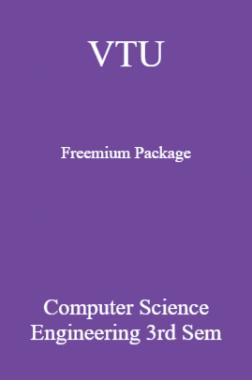 VTU Freemium Package Computer Science III SEM