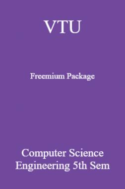 VTU Freemium Package Computer Science V SEM
