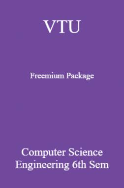 VTU Freemium Package Computer Science VI SEM