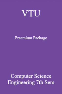 VTU Freemium Package Computer Science VII SEM