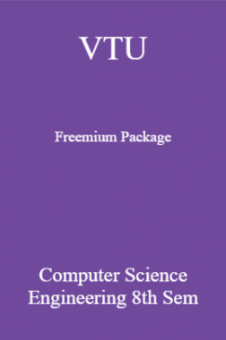 VTU Freemium Package Computer Science VIII SEM