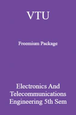 VTU Freemium Package Electronics and Telecommunications Engineering V SEM