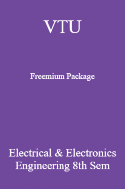 VTU Freemium Package Electrical And Electronics Engineering VIII SEM