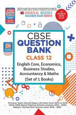 Oswaal CBSE Question Bank Class 12 English Core, Economics, Business Studies, Accountancy & Maths (Set of 5 Books)