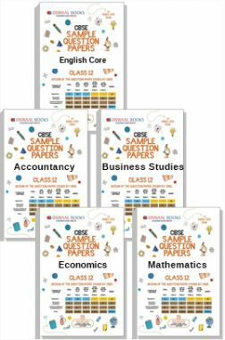 Oswaal CBSE Sample Question Papers For Class 12 (Set Of 5 Books) English Core, Economics, Business Studies, Accountancy & Maths (For March 2019 Exam)