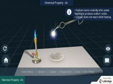 Metals And Non-Metals - Air (Chemical Property) Experiments