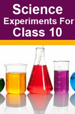Science Experiments For Class 10