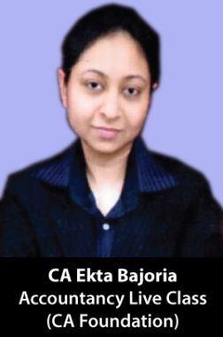 CA Ekta Bajoria CA Foundation (Accountancy) Live Class