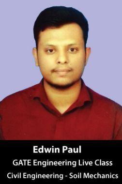 Free Live Class By Edwin Paul GATE - Engineering (Civil Engineering - Soil Mechanics)