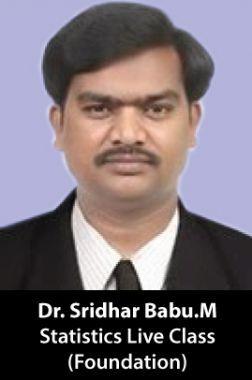 Dr.Sridhar Babu.M - CA Foundation (Statistics) live Class