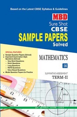MBD Sure Shot CBSE Sample Papers Solved Class 9 Mathematics (Term-II) 2017