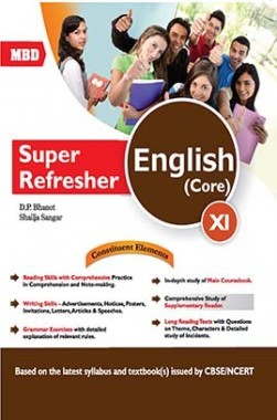 MBD CBSE Super Refresher English (Core) For Class 11