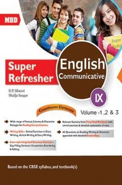 MBD Super Refresher English Communicative 9 Volume 1,2 And 3