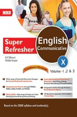 MBD Super Refresher English Communicative 10 Volume 1,2 And 3