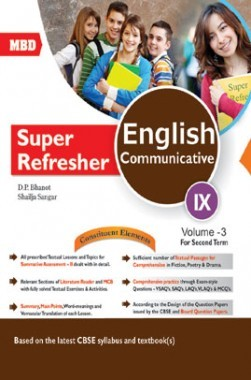 MBD Super Refresher English Communicative Class-IX  Vol-III CBSE