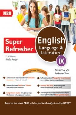 MBD Super Refresher English Language & Literature Class-IX  Vol-III CBSE