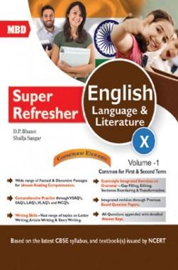 MBD Super Refresher English Language & Literature Class-X  Vol-I CBSE
