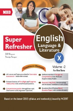 MBD Super Refresher English Language & Literature Class-X  Vol-II CBSE