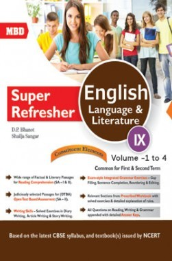 MBD Super Refresher English Language & Literature Class-IX  Vol-I To IV CBSE