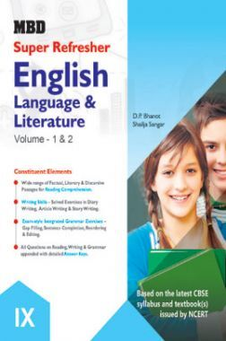 MBD Super Refresher English Language & Literature Volume - I & II Class - IX For 2020 Exam