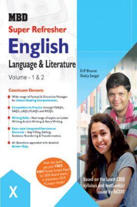MBD Super Refresher English Language & Literature Volume - I & II Class - X For 2020 Exam