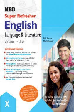 MBD Super Refresher English Language & Literature Volume - I & II Class - X For 2020 Exam