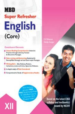 MBD Super Refresher English (Core) Class - XII For 2020 Exam