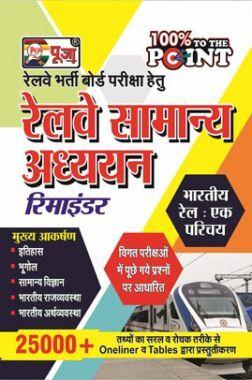 Puja रेलवे भर्ती बोर्ड परीक्षा हेतु रेलवे सामान्य अध्ययन रिमाइंडर