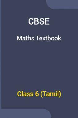 CBSE Maths Textbook For Class 6 (Tamil)