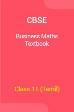 CBSE Business Maths Textbook For Class 11 (Tamil)