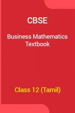 CBSE Business Mathematics Textbook For Class 12 (Tamil)