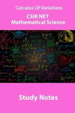 Calculus Of Variations CSIR NET Mathematical Science Study Notes
