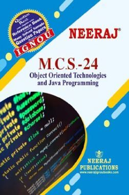 MCS-24, Object Oriented Technologies And Java Programming