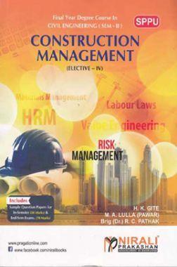 Construction Management (Elective - IV)