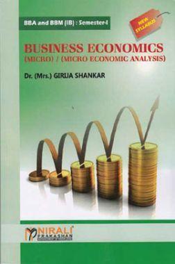 Business Economics (Micro) / (Micro Economic Analysis)