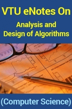 VTUeNotes OnAnalysis and Design of Algorithms(Computer Science)