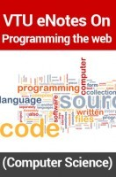 VTU eNotes On Programming the web (Computer Science)