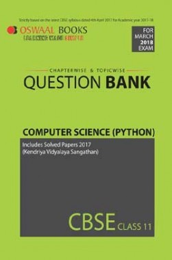 Download Oswaal CBSE Chapterwise/Topicwise Question Bank For Class 11  Computer Science Python (Mar  2018 Exams) by Panel Of Experts PDF Online