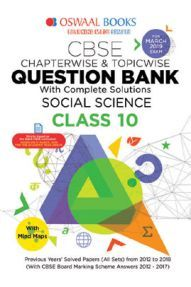 Oswaal CBSE Chapterwise & Topicwise Question Bank For Class-10 Social Science (Mar 2019 Exam)