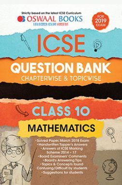 Download Oswaal ICSE Question Bank Chapterwise & Topicwise Class - X  Mathematics For 2019 Exam by Panel Of Experts PDF Online