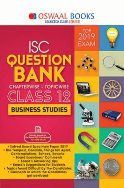 Oswaal ISC Question Bank Chapterwise & Topicwise Class - XII Business Studies For 2019 Exam