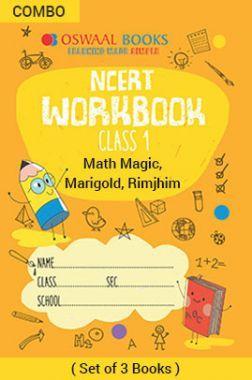 Oswaal NCERT Workbook For Class - I English Marigold, Hindi Rimjhim & Math Magic For 2019 Exam