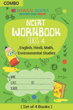 Oswaal NCERT Workbook For Class - IV English Marigold, Hindi Rimjhim, Math Magic & Environmental Studies Looking Around For 2019 Exam
