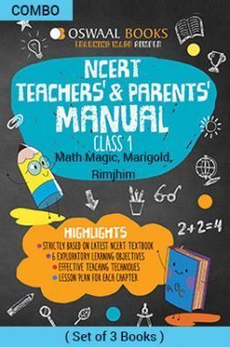 Oswaal NCERT Teachers & Parents Manual For Class - I English Marigold, Hindi Rimjhim & Math Magic For 2019 Exam
